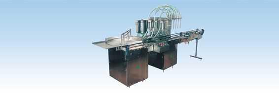 gcb6b型六泵直线式消泡灌装机
