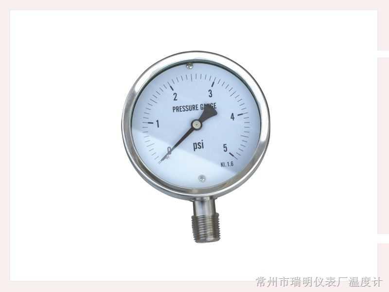 一般压力表;耐震压力表;全不锈钢压力表;耐震全不锈钢压力表;定位型压力表;差动远
