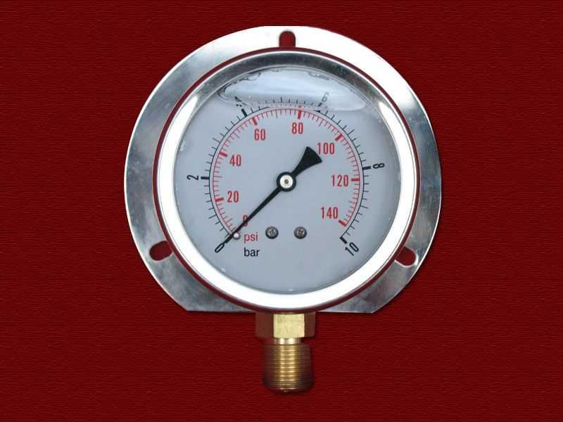 耐振压力表(径向带后边型)