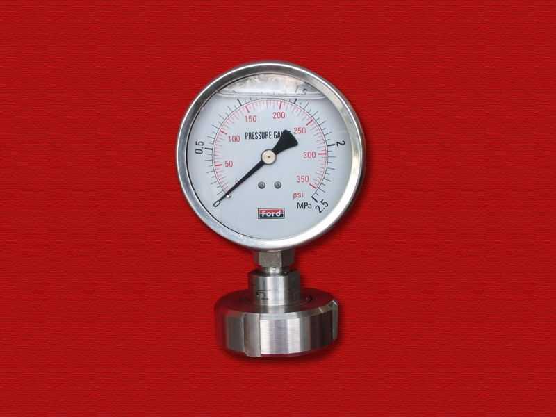 卫生型隔膜压力表(内螺母式)