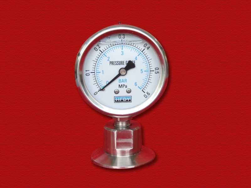 卫生型隔膜压力表(卡箍式)