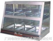 双盆保温陈列柜四面玻璃