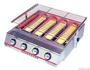 不锈钢大四头玻璃环保烧烤炉,燃气烧烤炉,烧烤炉