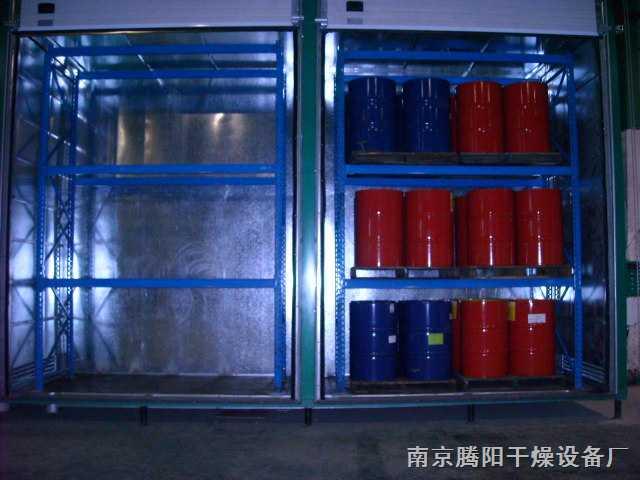 16桶铁桶装化工原料加热溶解烘房