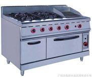 【广州富祺】GH-999A落地式燃气四头煲仔炉 连烧烤炉连焗炉 欢迎选购