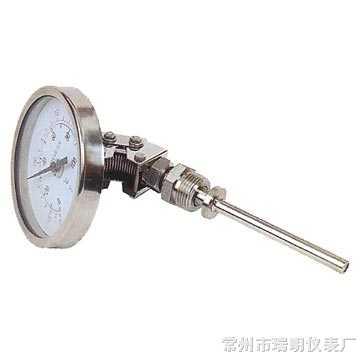 WSS-381双金属温度计,WSS-481双金属温度计,WSS-581双金属温度计,万向型双金属温度