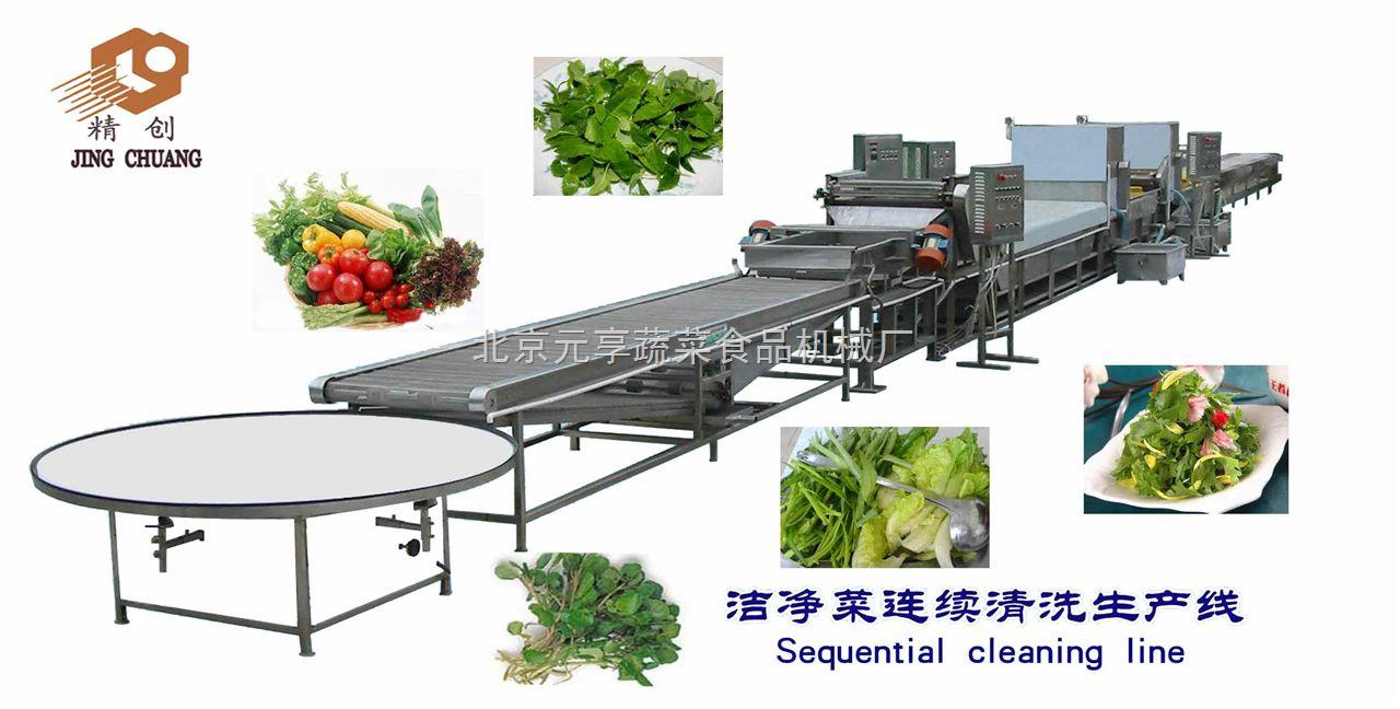 净菜加工生产线图片