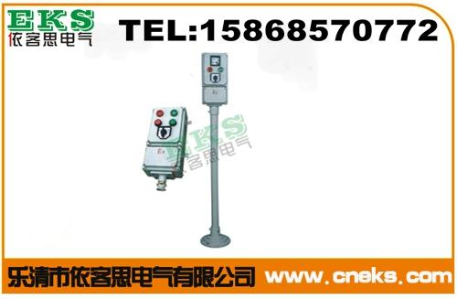 BZC51-A6D6B2K1G/220V/380V带灯带钮带开关挂式防爆操作柱