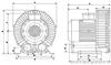 RBRB系列高压鼓风机详细安装尺寸