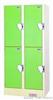 4门员工更衣柜自设密码式电子寄存柜、电投币柜,感应锁储物柜