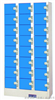 24门投币锁储物柜电子密码寄存柜,超市存物柜,投币式寄存柜